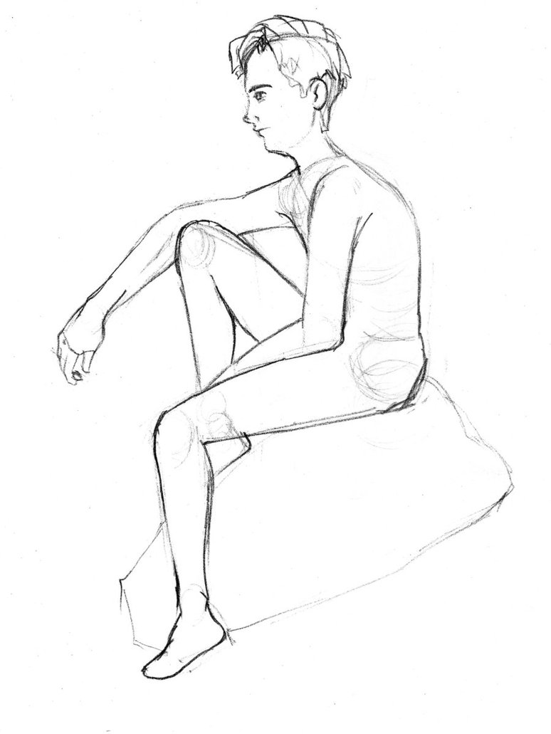 774x1031 Drawings Of Someone Sitting On A Rock Amazing! How To Draw