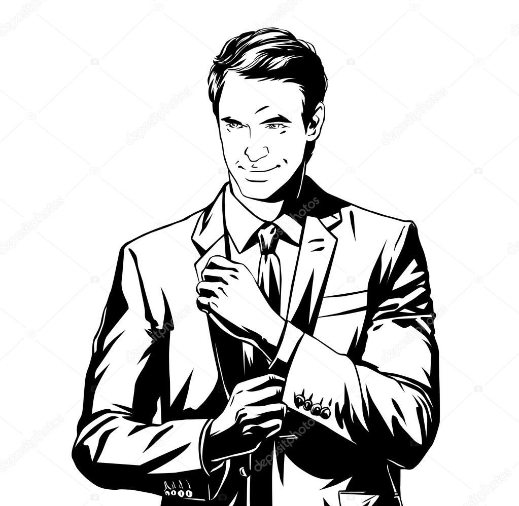 1023x999 Business Man In Suit Stock Vector Eokotnikova