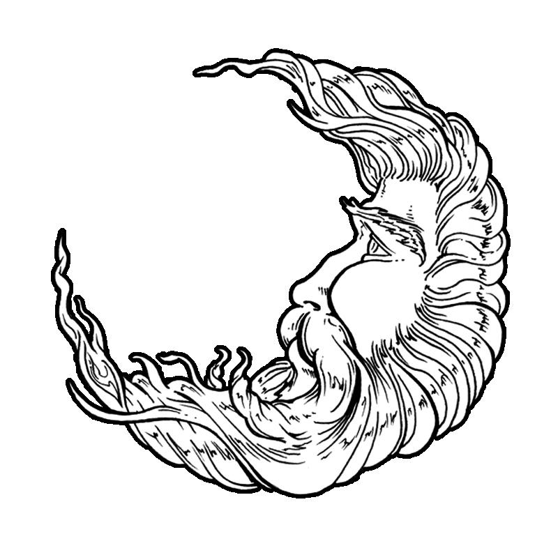 800x786 Drawn Moon Man In Moon