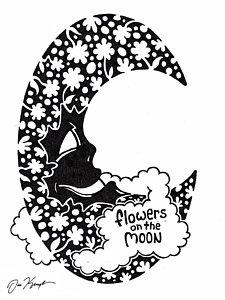225x300 Man In The Moon Drawings Fine Art America
