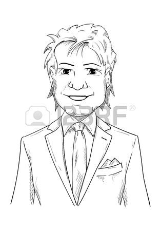 Man In Tuxedo Drawing