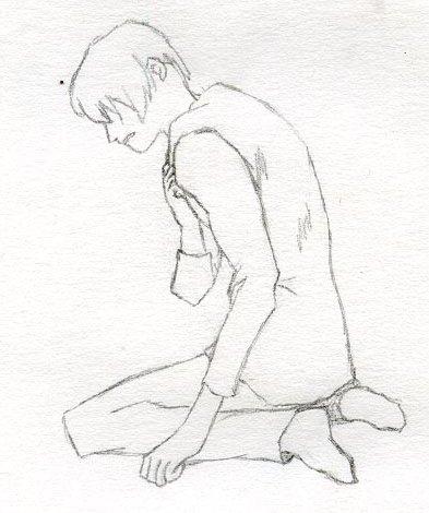 393x470 Raymond Davis Blog Anime Boy Kneeling