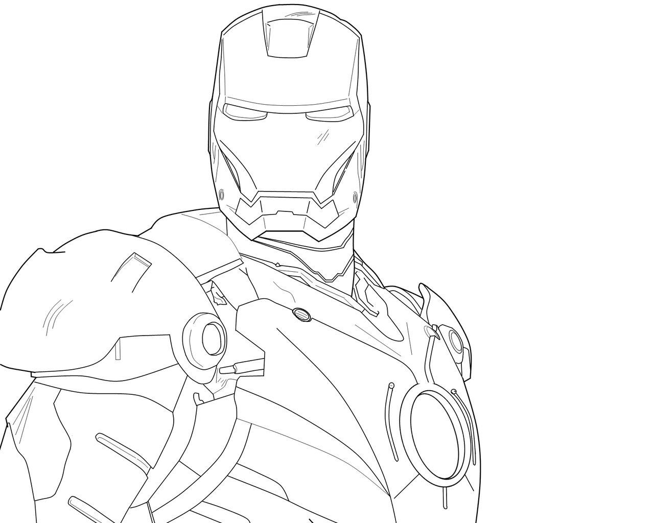 1280x1024 Drawing Of Iron Man Iron Man [Line Drawing]tehdrummerer