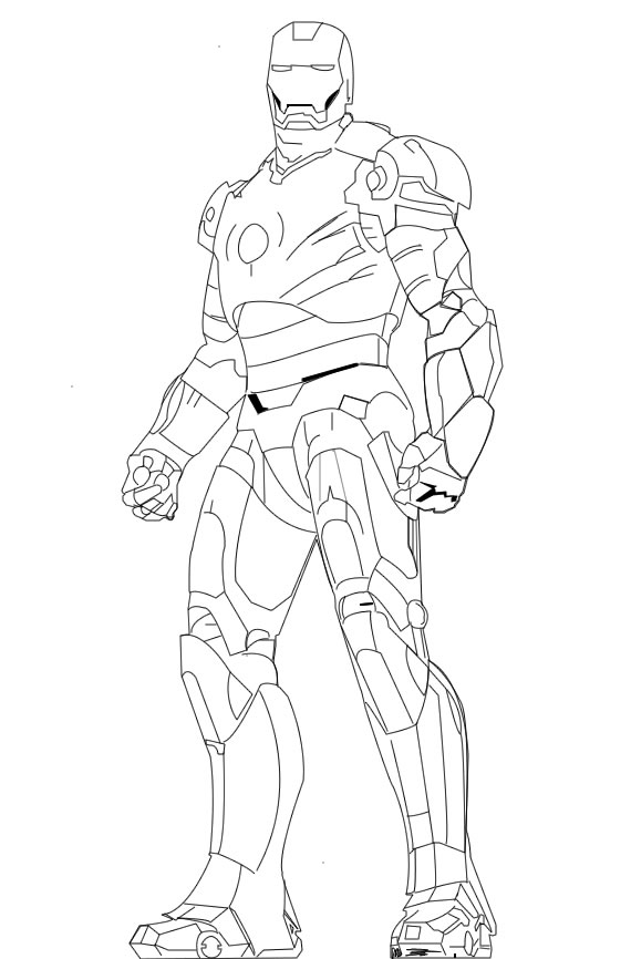 570x866 Iron Man Line Art By Saify02