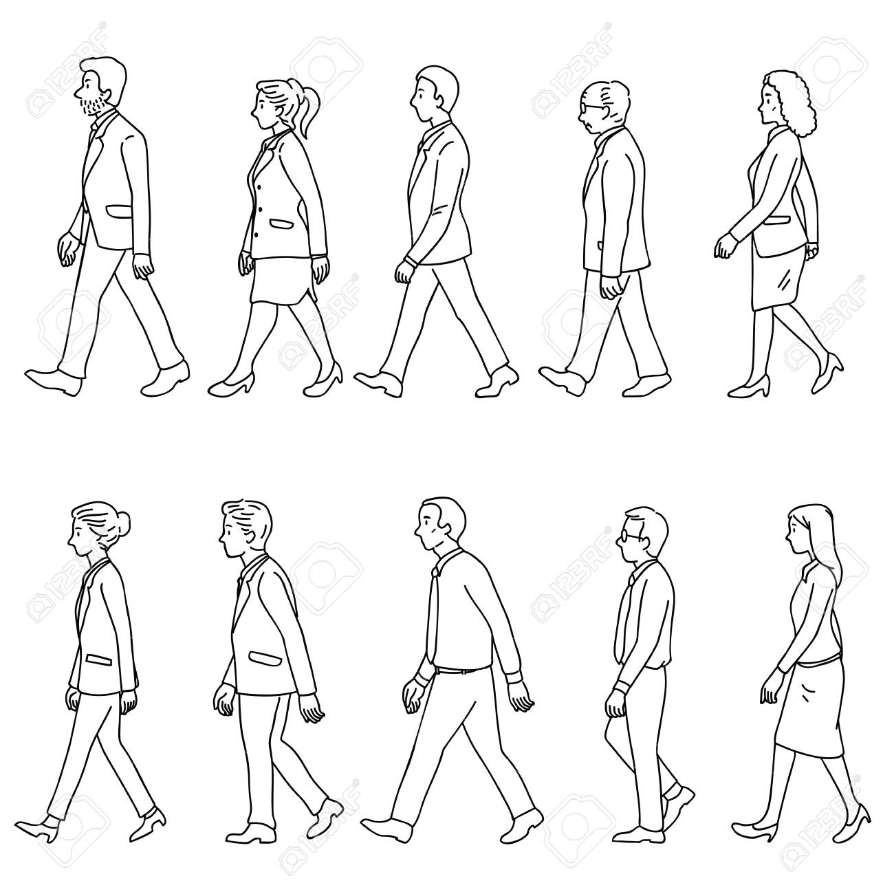 1300x1300 Vector Illustration Various Character Of Full Length