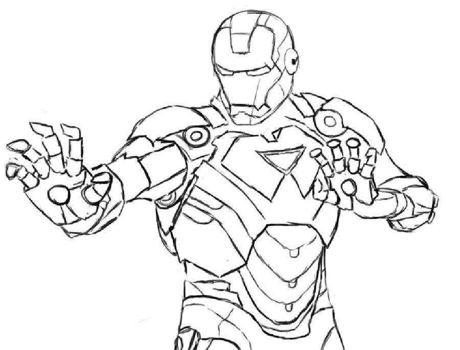 900x685 Line Art Iron Man By Ruzukii