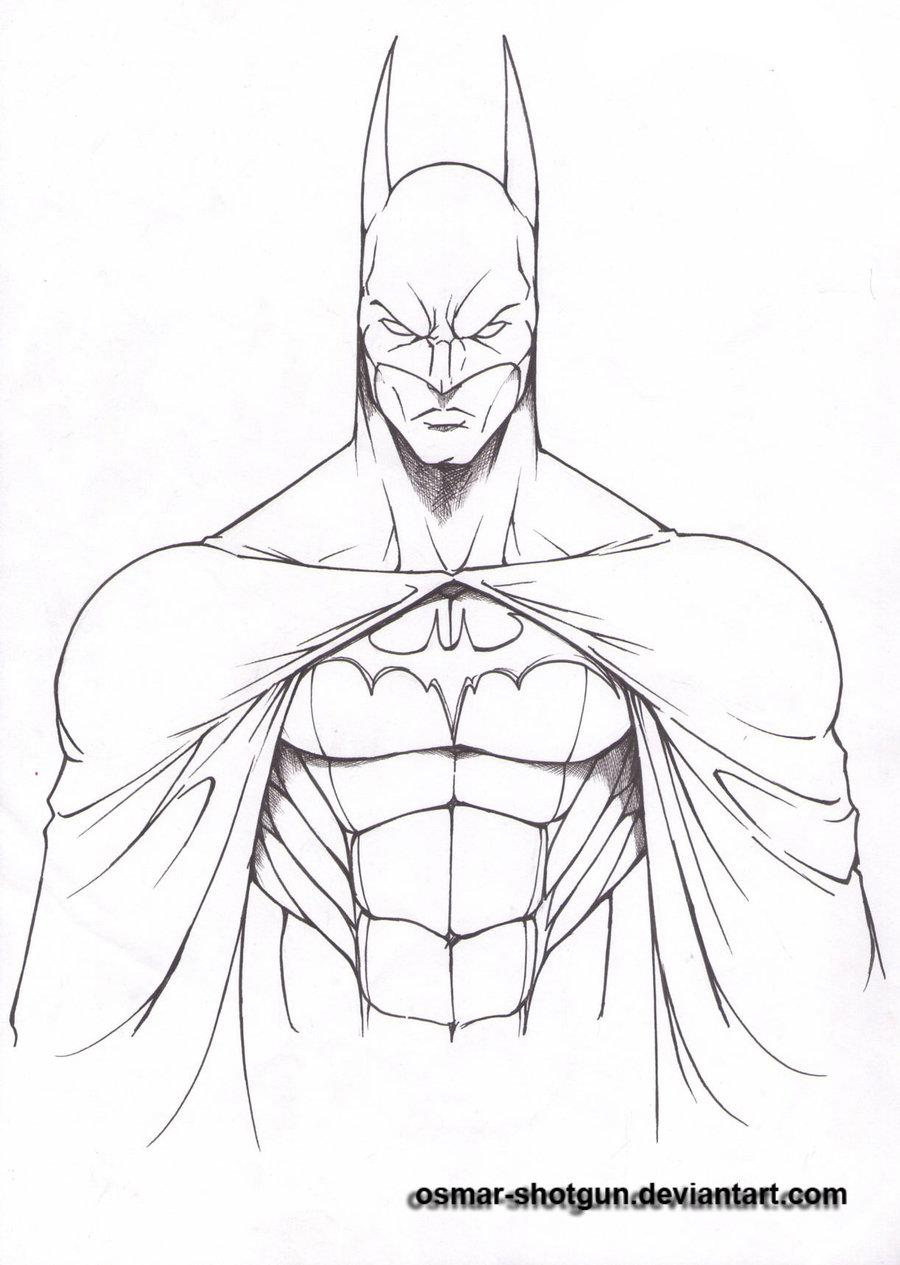 900x1265 Batman Drawings Batman Line Art By Osmar Shotgun Fan Art