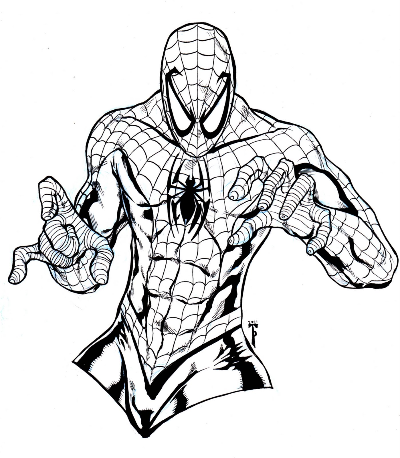 1398x1600 Beautiful Spider Man Color 11 For Your Line Drawings With Spider