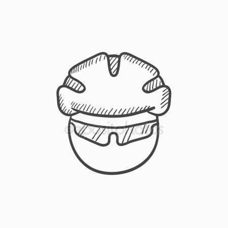 450x450 Motorcycle Helmet Sketch Icon. Stock Vector Rastudio