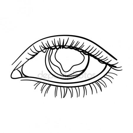 450x450 Blue Eyes Of A Man Who Suffers Diabetes.brilliant Eyes
