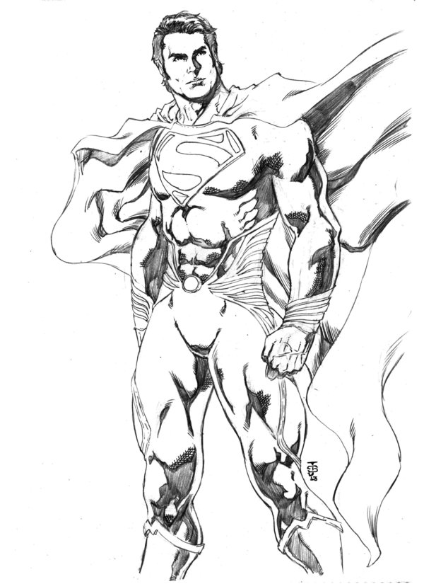 Man Of Steel Drawing