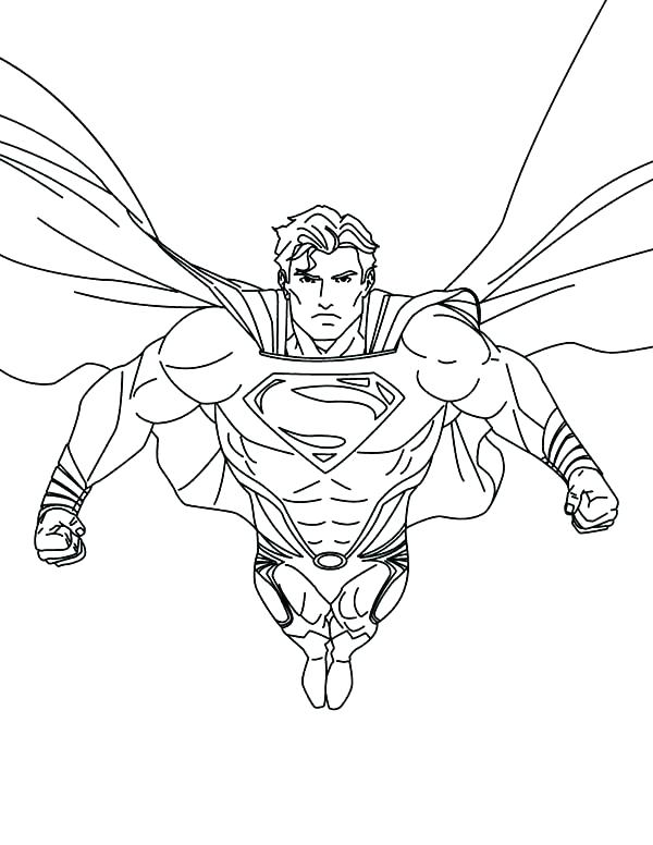 600x776 Free Superman Coloring Pages Superman Coloring Page Superman