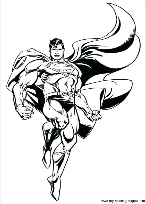 567x794 Man Of Steel Coloring Pages Free Superman Man Of Steel Coloring