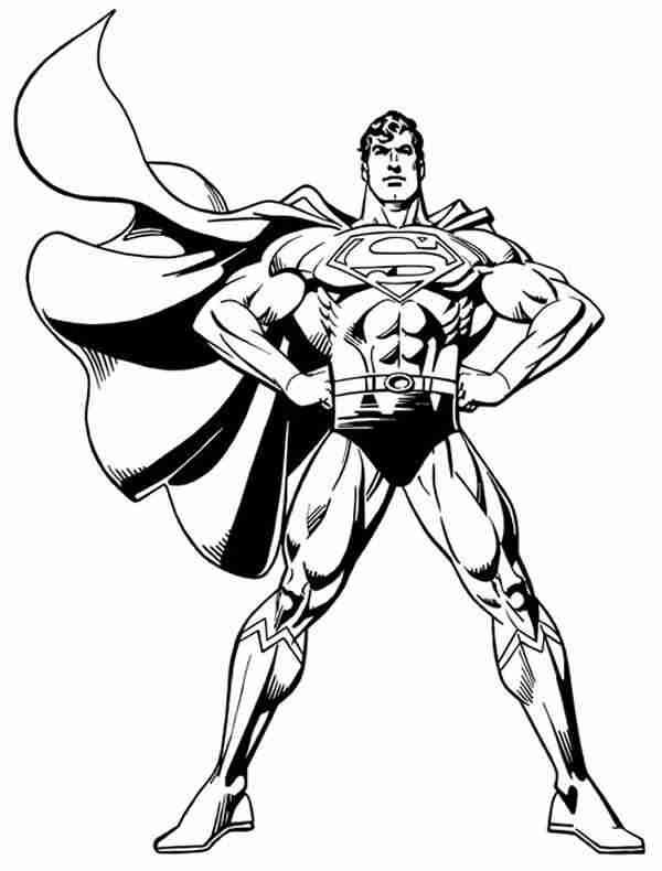 600x790 Man Of Steel Coloring Pages Man Of Steel Coloring Pictures