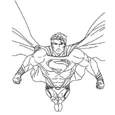 230x230 Top 30 Free Printable Superman Coloring Pages Online