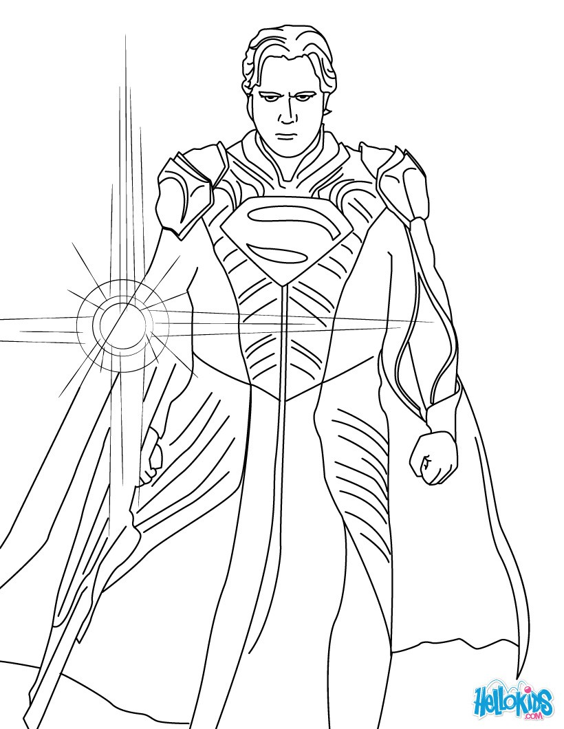 820x1060 Man Of Steel Coloring Pages