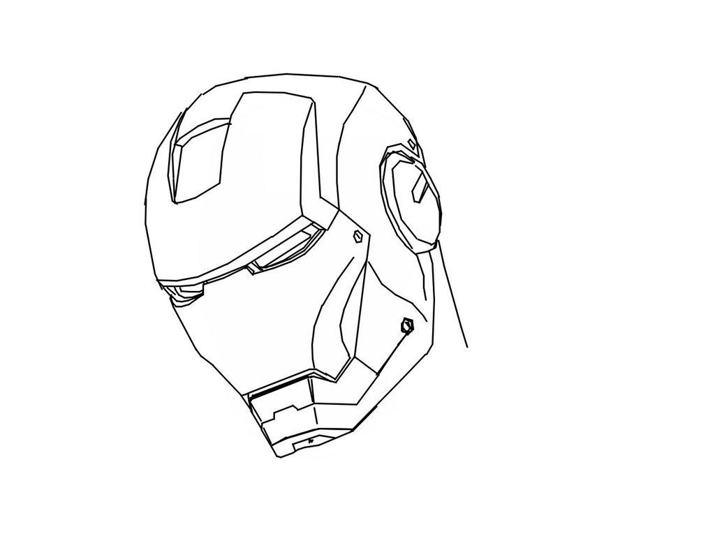 1024x788 Iron Man Outline By Waywardmartian