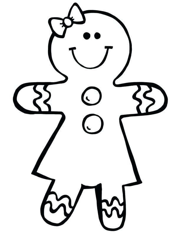 618x815 Person Outline Coloring Page Gingerbread Girl Coloring Pages A Man