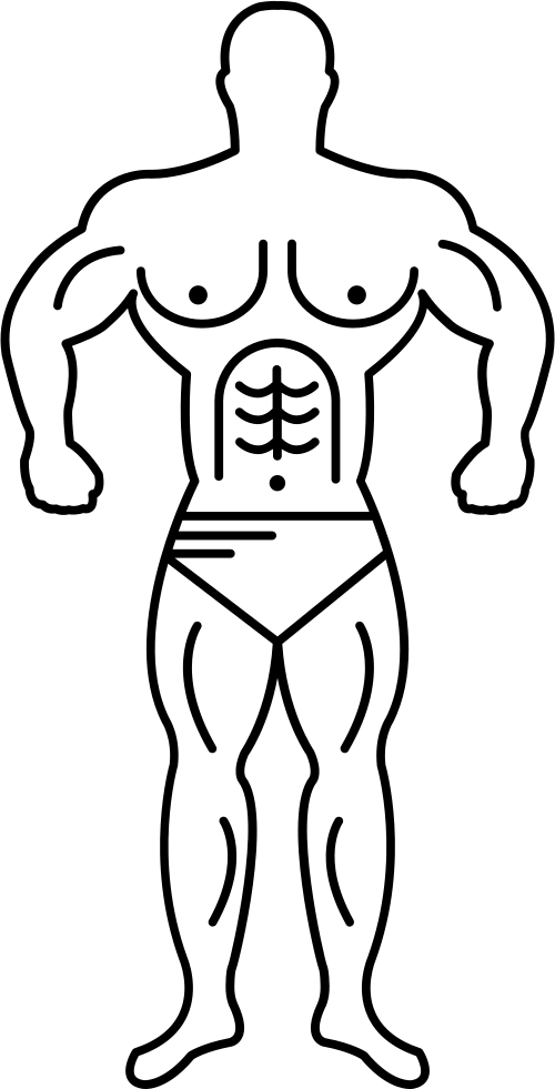 500x981 Super Muscle Man Outline Svg Png Icon Free Download ( 35964