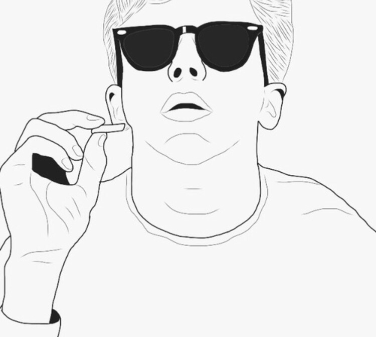 750x671 Tumblr Outline Boy Draw Outlines, Drawings