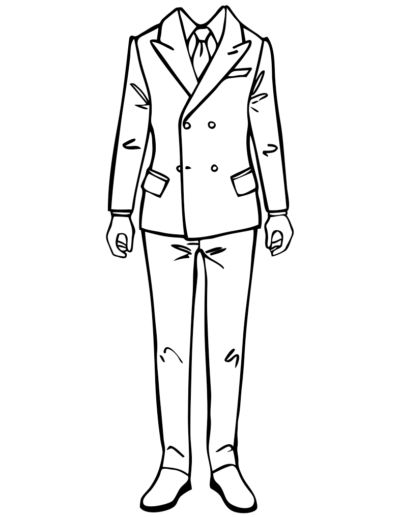 786x1017 Drawing How Draw A Man In A Suit Youtubegether With How