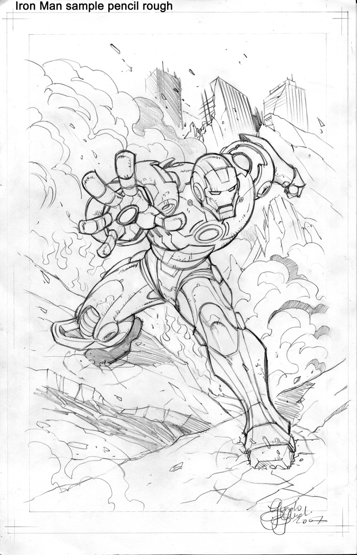 709x1102 Iron Man Sketch By Guidoguidi