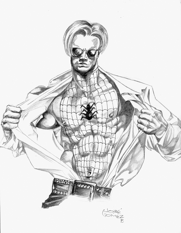 612x784 Spiderman Pencil Sketch, In Jose Gomez's Logan's Lake Comic Art