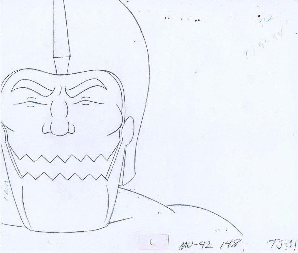 1172x993 He Man Masters Of The Universe Original Animation Pencil Drawing