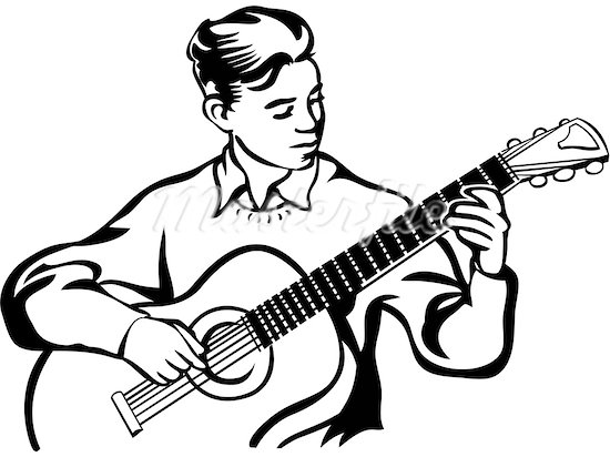 550x412 Gallery For Gt Guy Playing Acoustic Guitar Drawing Images Music