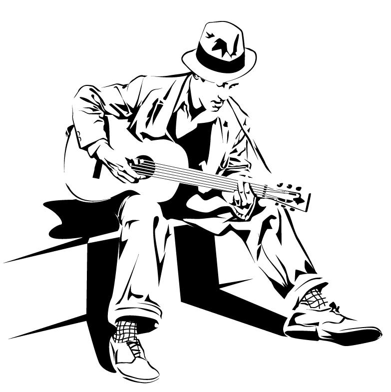 783x785 Guitar Man By Montgomeryq