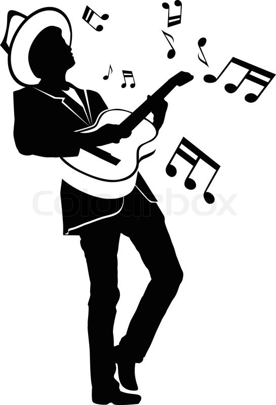 545x800 Man Playing Guitar Stock Vector Colourbox