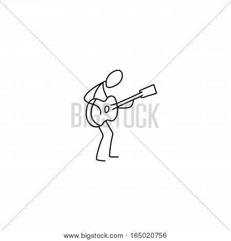 450x470 Stick Figure Man Playing Guitar Vector Amp Photo Bigstock