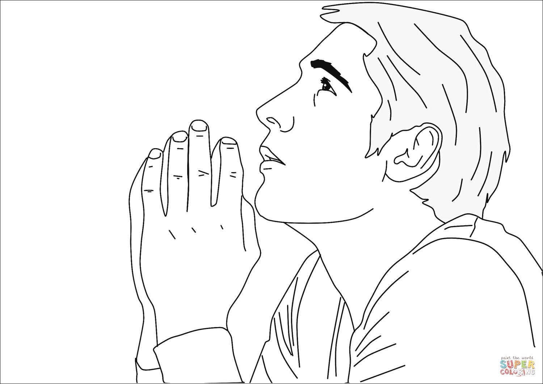 Man Praying Drawing at GetDrawings.com | Free for personal use Man ...