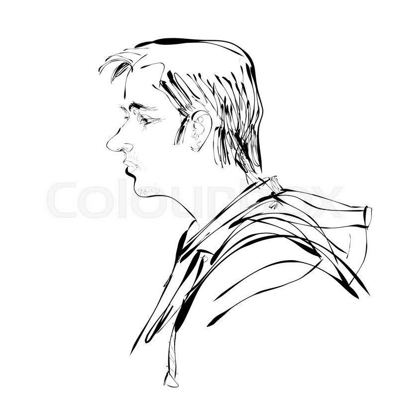 Man Profile Drawing