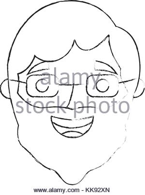 300x403 Sketch Profile Head Man Character Stock Vector Art Amp Illustration