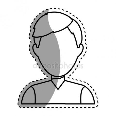 450x450 Young Male Profile Icon Vector Illustration Stock Vector