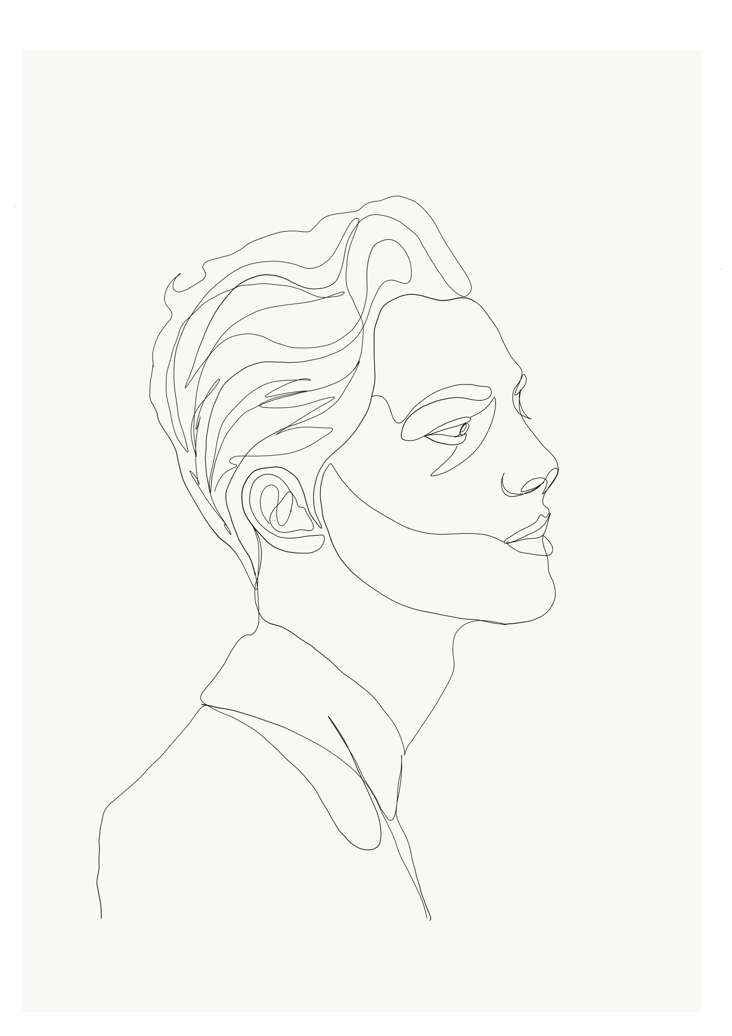 1448x2048 Emma Ryan Single Line Drawing Mans Face Profile Drawing