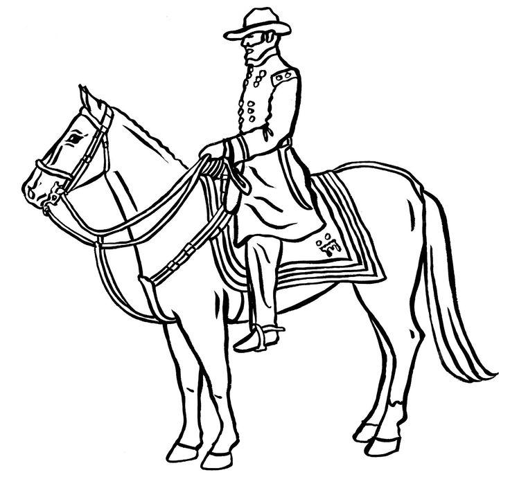 Man Riding Horse Drawing