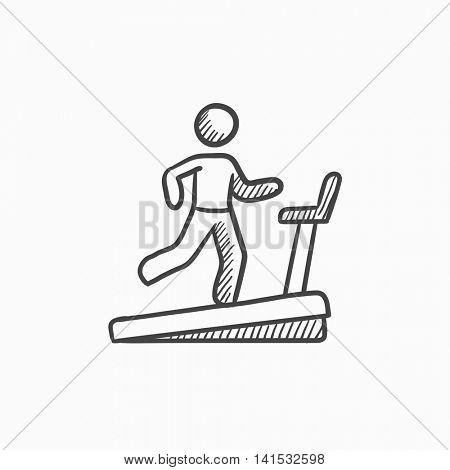 450x470 Man Running On Treadmill Vector Vector Amp Photo Bigstock