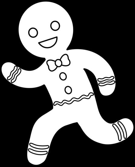 446x550 Running Gingerbread Man Line Art