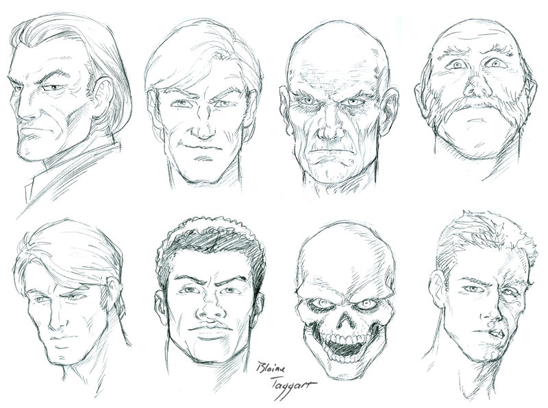 800x595 Male Faces By Staino