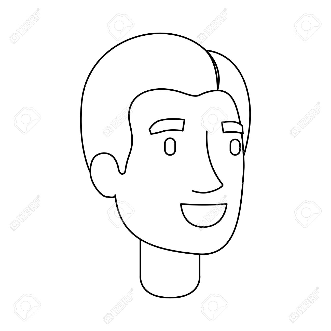 1300x1300 Monochrome Silhouette Of Man Face With Short Hair And Fringe
