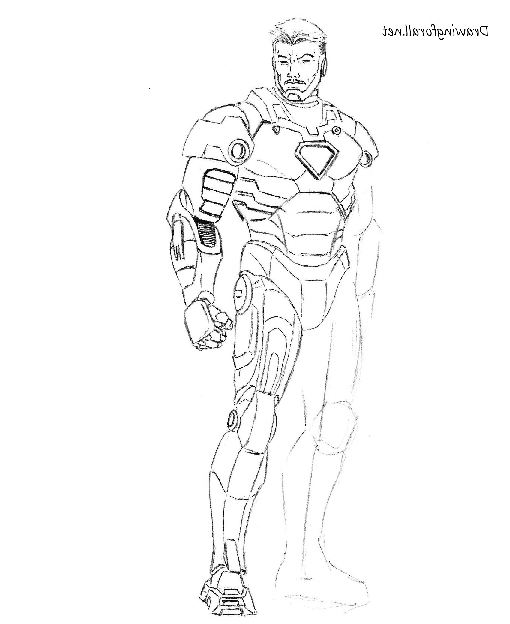 1700x2080 Tony Stark Side Faces Sketches How To Draw Iron Man Step By Step