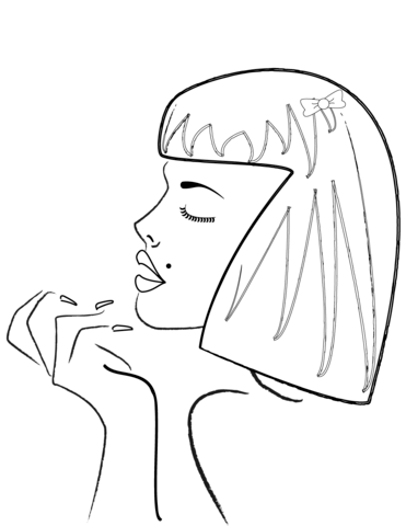 371x480 Woman's Side Profile Coloring Page Free Printable Coloring Pages