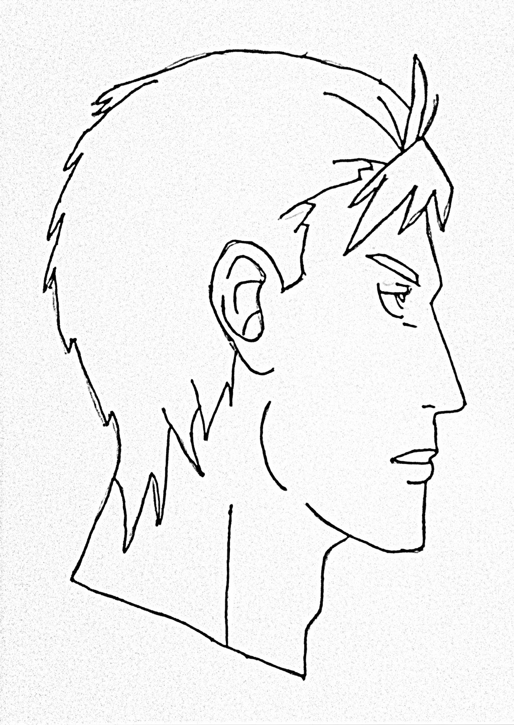 1024x1444 Drawing Side Of Face Anime