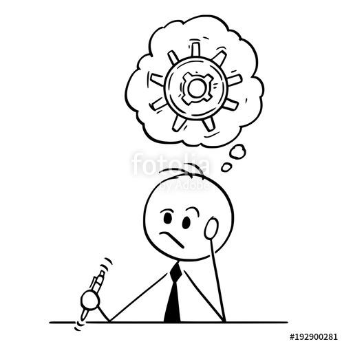 497x500 Cartoon Stick Man Drawing Conceptual Illustration Of Businessman