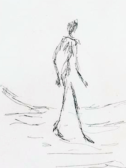 418x559 Walking Man 1964 By Alberto Giacometti