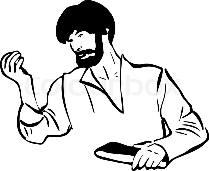 800x654 Image Of A Man With A Beard Stock Vector Colourbox