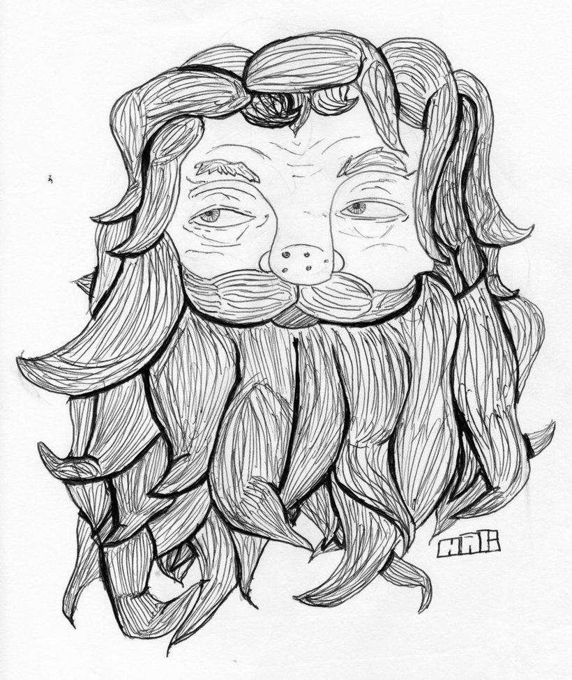 820x975 Man With A Beard By Kittenzryummy