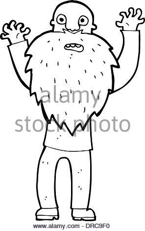296x470 Cartoon Frightened Old Man With Beard Stock Vector Art